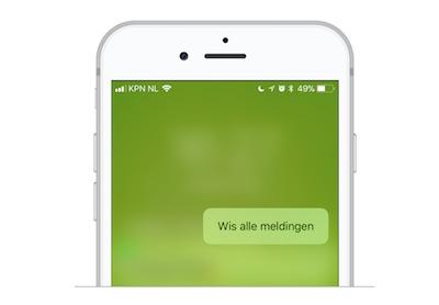 alle meldingen iphone wissen