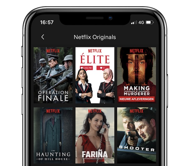 netflix originals iphone app