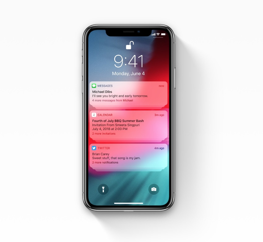notificaties ios 12