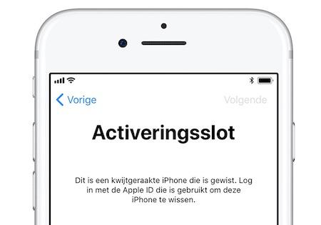 activeringsslot iphone