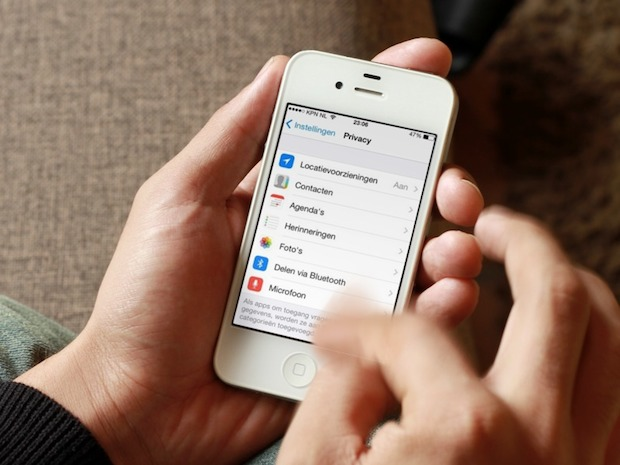 privacy instellen in iOS